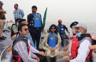 बौर जलाशय में तीन दिवसीय वाटर स्पोर्टस प्रतियोगिता का हुआ शुभारम्भ