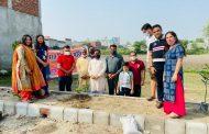 भारत विकास परिषद ने श्री दूधिया बाबा कन्या छात्रावास में किया वृक्षारोपण